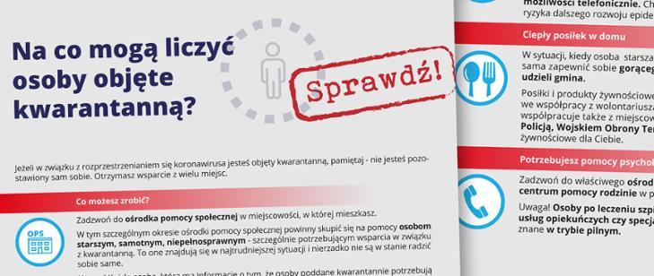 Pomoc dla osób w kwarantannie domowej, Gminny Ośrodek Pomocy Społecznej w Łopusznie