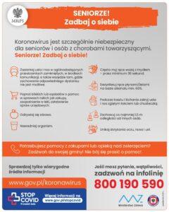 DRODZY SENIORZY – uważajcie na siebie, Gminny Ośrodek Pomocy Społecznej w Łopusznie