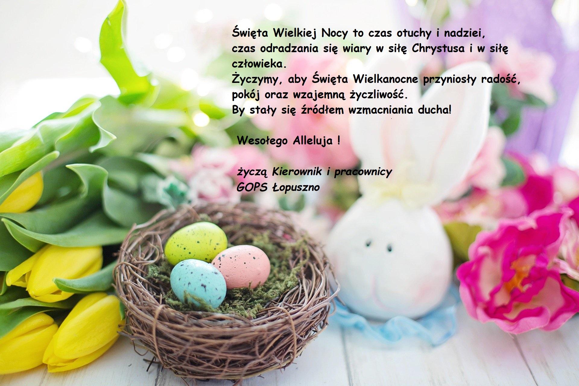 Wesołego Alleluja !!!, Gminny Ośrodek Pomocy Społecznej w Łopusznie